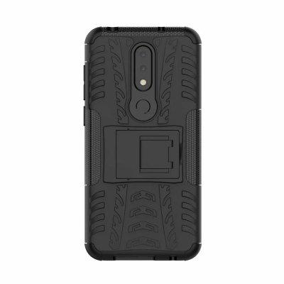 Dual Layer Shockproof Slim Protective with Kickstand Case for Nokia X6