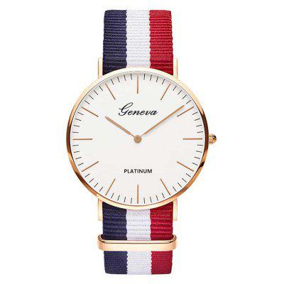 Fashion Nylon Strap Style Quartz Men Women Watch Top Brand