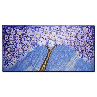 YISHIYUAN 1 PCS HD Inkjet Paints Purple White Abstract Tree Decorative Painting