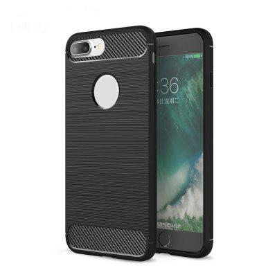Arbon Fibre Wiredrawing Anti-Fall Cell Phone Case for iPhone 8 Plus