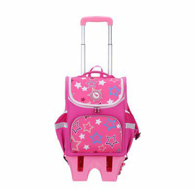 OIWAS Child Wheeled Backpack Waterproof Rolling School Pack Travel Suitcase