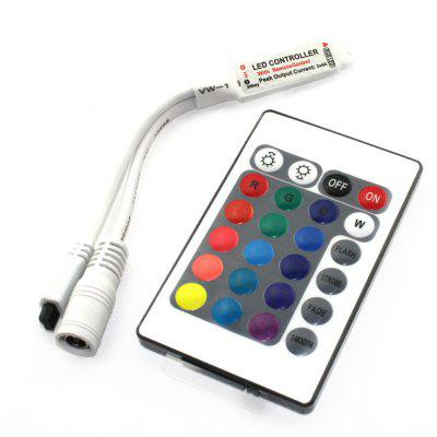 DC 12V Mini 24 Key Remote Controller IR RGB Strip Lights