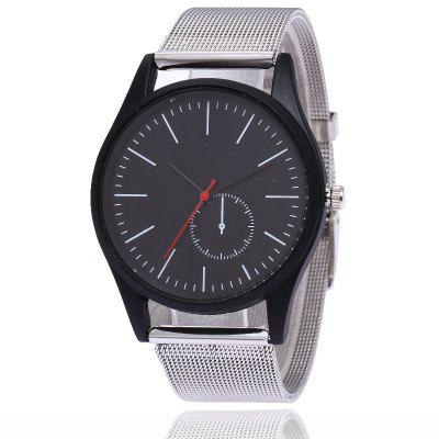 New Fashion Men and Women Business Mesh Belt Leisure Creative Dial Quartz Watch