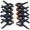 LimoStudio 10-Pack Adjustable Heavy Duty Spring Black Clamps - BLACK