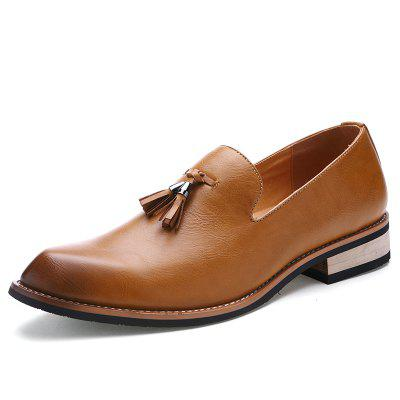 Men High Quality Leather Shoes Slip On Wedding Party Footwear Loafers