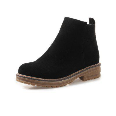 Waterproof Crude with Low All-Match with Ladies Boots
