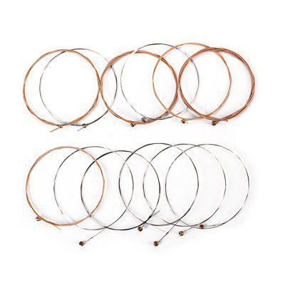 12PCS Stainless Steel Acoustic Guitar Strings