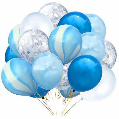 20 PCS Latex Confetti Balloons Blue for Party Wedding Christmas Decoration
