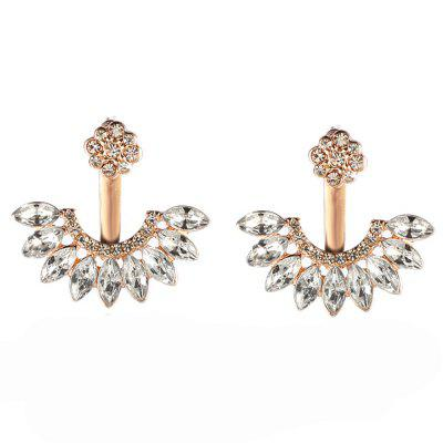 Sweet and Fashionable Daisy Ear Stud Made of Zircon Alloy