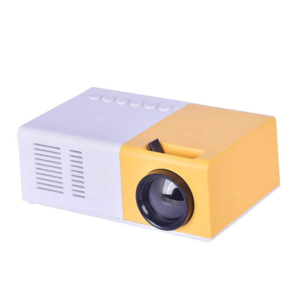 Mini Home Theater Household Portable Smart Projector - YELLOW