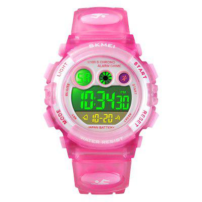 SKMEI Sport Children Cute LED Digital Plastic Alarm Date Display  Wrist Watches