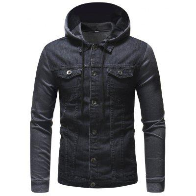 Fashion Knit Hooded Design Men's Casual Hooded Jacket