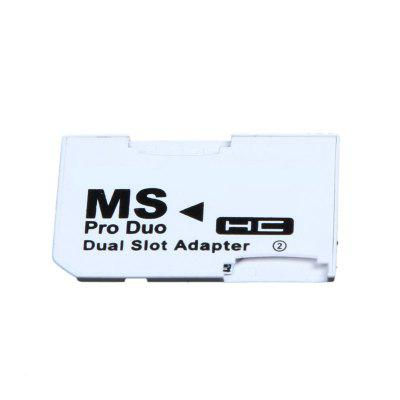 2 microSD/micro SDHC Cards Adapter Micro SD TF to Memory Stick MS Pro Duo for PS