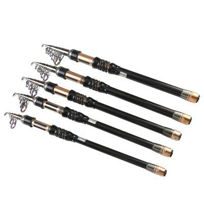 Carbon Fiber Telescopic Casting Spinning Fishing Rod Travel Fishing Tackle