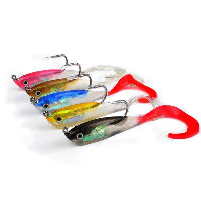 5pcs 10cm 14.7g Soft Fishing Lures Lead Fish Silicone Bait Wobblers For Fishing