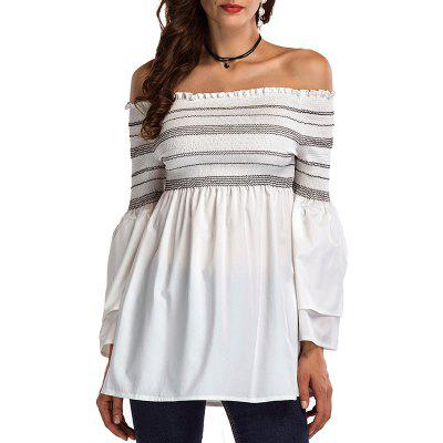Sexy One with A Ruffled Shoulder Shirt