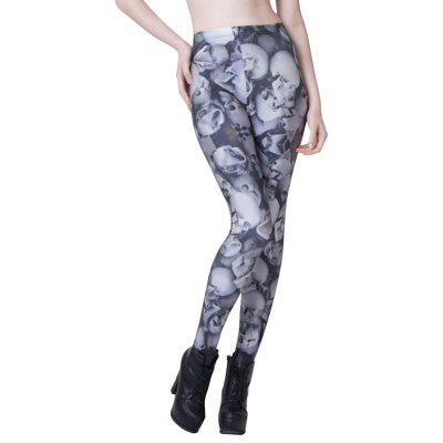 Fashion Skull Elastic Leggings