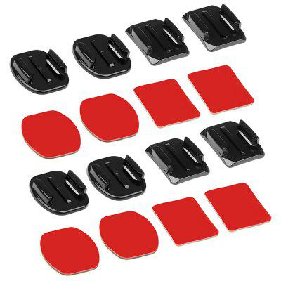 Flat Curved Base Mount and Adhesive Stickers for GoPro Hero 7 / 6 / 5 / 4 / Yi