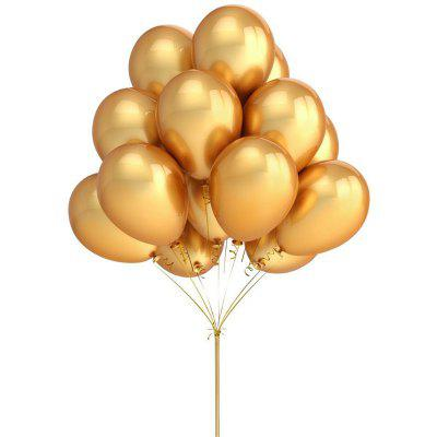 10PCS 12 Inches Gold Color Latex Balloons Party Decoration Favors