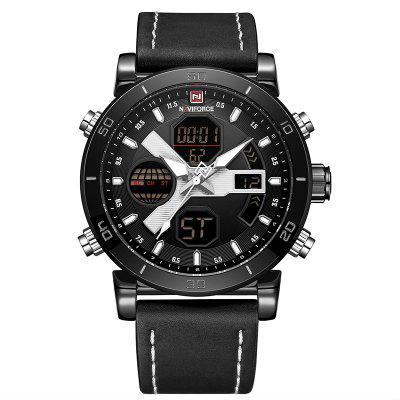 NAVIFORCE Montre à Quartz Sportive à la Mode