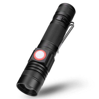ZHISHUNJIA YH8466 1000Lm Cree XML T6 18650 Torcia LED zoomable - Nero