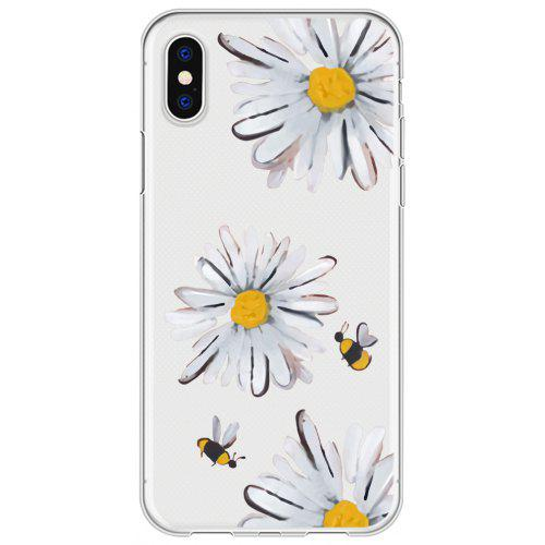 69b3355095 Three Daisies Clear Protective Flexible Decoration Case for iPhone X |  Gearbest