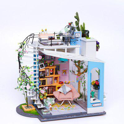 Robotime DIY Cottage House Hand-Assembled Creative Toy House Dora'S Loft