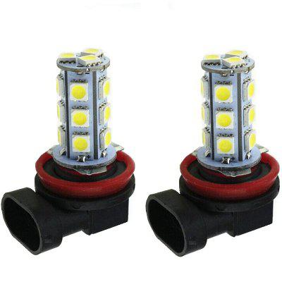 H8 H11 5050 Chips 18 SMD LED Bulb Lamp Backup Light Turn Signal Reverse 12V 2PCS