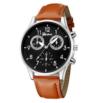 Geneva Men Casual Business Strap Stylish Quartz Watch