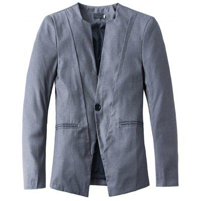 New Casual V-neck One Button Men's Suit