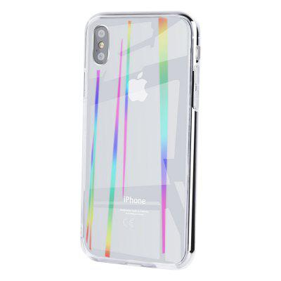 Aurora Case For iPhone X Luxury Silicone Bumper Glitter Clear Back Cover