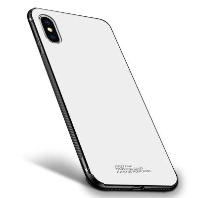 Tempered Glass Hard Back Soft Bumper Protective Cover for iphone X / XS / XS Max