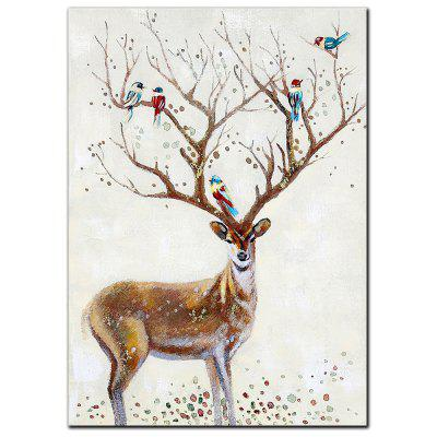 YISHIYUAN 1 buc Vopsea HD cu jet de cerneală Abstract Bird Deer Animal Decorative de pictură