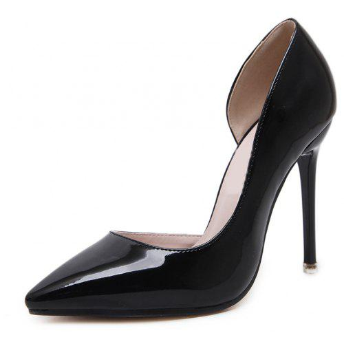 Women s Pointed Toe Stiletto Open Side Shoes Slim Party High Heels ... f445b1e67b5f