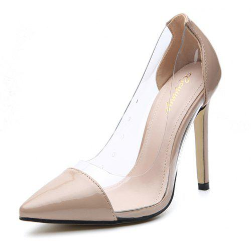 Women's Pointed Toe Stiletto High Heels Elegant Party Pumps