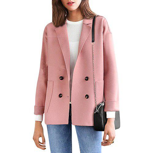 84dc5a6f8be Women s Plus Size Coat Long Sleeve Notched Collar Solid Color Loose Coat -   35.90 Free Shipping