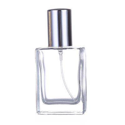 30ML Transparent Flat Square Glass Empty Bottle / Spray Bottle Cosmetic Bottle