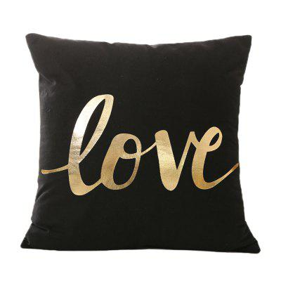 Black Gold Stamping Pillow Case