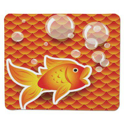 Non Slip Rubber Gaming Red Fish  Mousepad