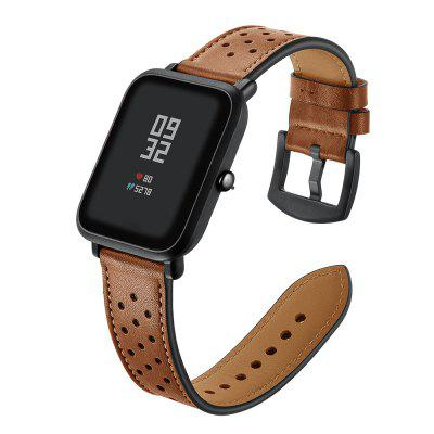 Genuine Leather Watch Strap 20mm for AMAZFIT Youth Bit