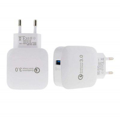 Quick Charge 3.0 USB-wandcontactdoos Mini Travel Power Adapter voor iPhone / Samsung