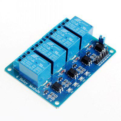 5V 4 Channel Relay Module For Arduino PIC ARM DSP AVR MSP430 Blue