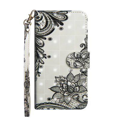 Fashion 3D Color Painting for LG Q8 Case Flip Leather Wallet Cover