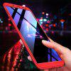 3 in 1 360 Degree Full Body Hard PC Back Cover Case for Samsung Galaxy J6(2018) - RED