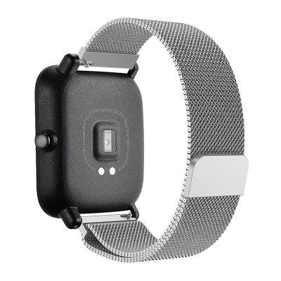 20MM Milanese Loop Magnetic Replacement Watch Strap for Xiaomi Huami Amazfit Bip