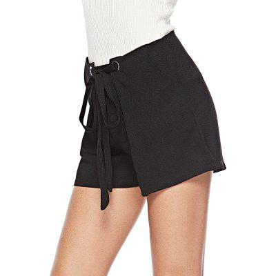 Women's lace-up casual shorts
