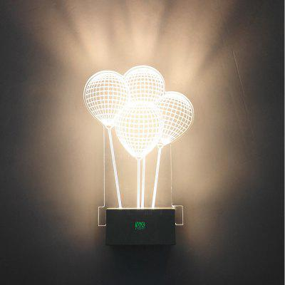 YWXLight 8W AC 110 - 240V LED 3D Wall Lamp Creative Ambient Light Home Lighting