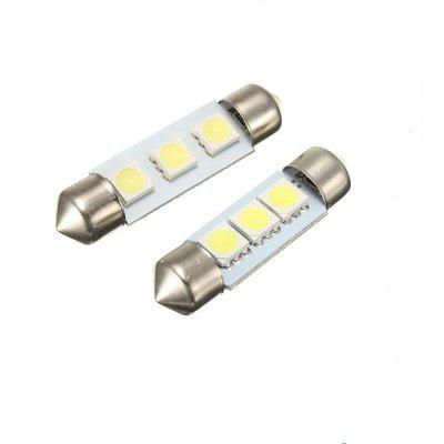 Festoon 3LEDS 5050 SMD DC12V LED Auto Car Lamp Decorative Reading Light 2PCS