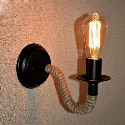 Retro Industrial Wind Rope Wrought Iron Wall Lamp