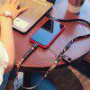 Cooho USB Charging Cable Type-C Charger Cute Mobile Phone Lanyard Cable - BLACK